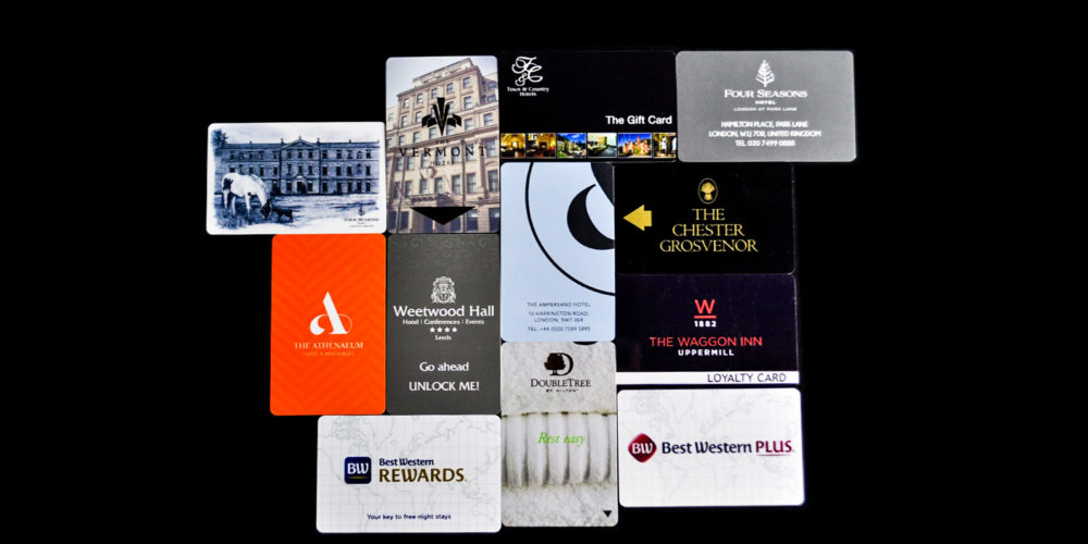 Hotel room keycards