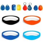 Silicone wrist bands and tags
