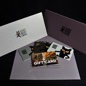 printed gift cards and wallet