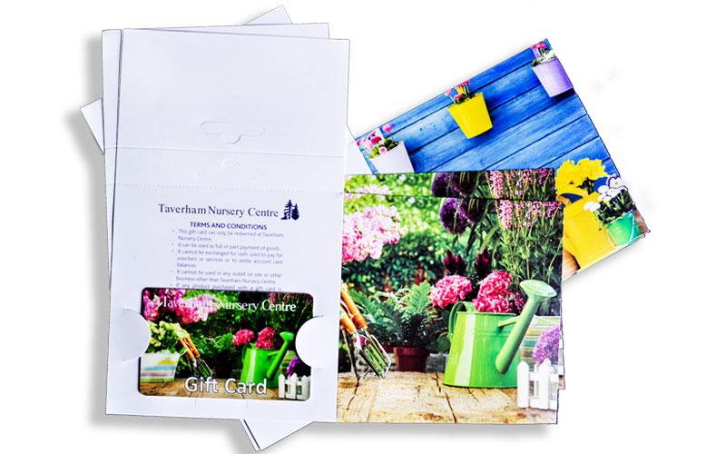 Printed card holders and display packs