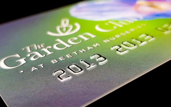 embossed plastic card