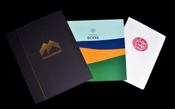 printed brochures and folders