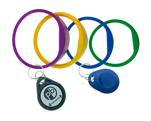 Wristbands and keyfobs