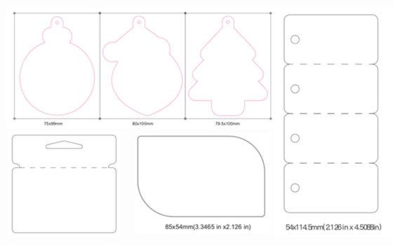 Plastic card shapes