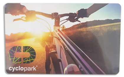 Cyclopark plastic printed card